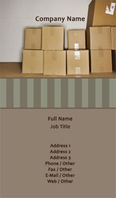 Moving Boxes & Storage Business Card Template